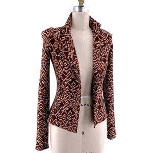 Diane Von Furstenberg DVF Retro Sweater Blazer